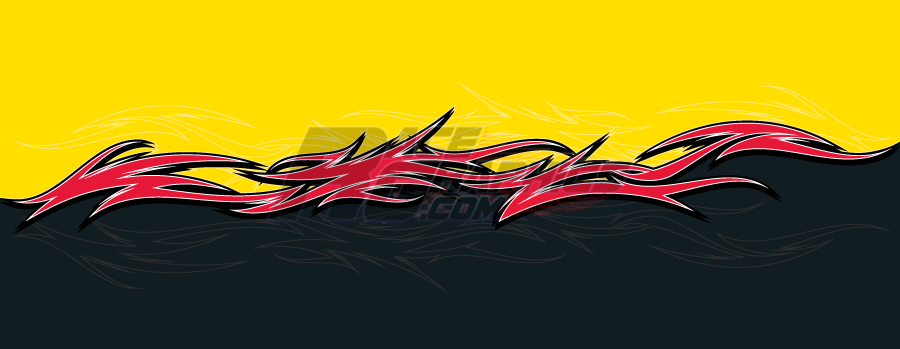 Barbed Wire Yellow Vinyl Race Car Wrap RaceGraphicscom - Barb wire custom vinyl decals for trucks