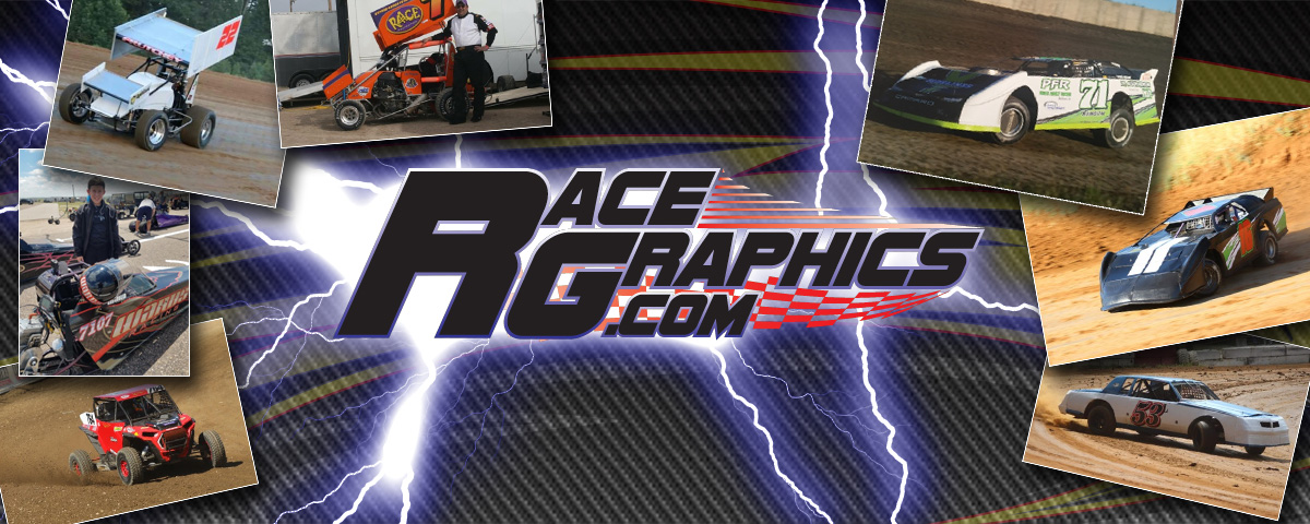 Custom race car graphics and lettering