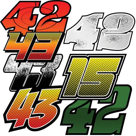 Design numbers now race car numbers
